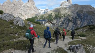 IFMGA, Trekking in the Dolomites, Photo Kurt Walde